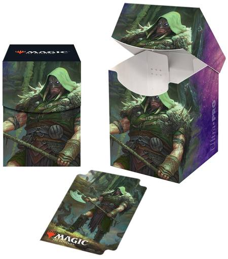 Ultra Pro Magic Throne of Eldraine 100+ Deck Box - Garruk, Cursed Huntsman