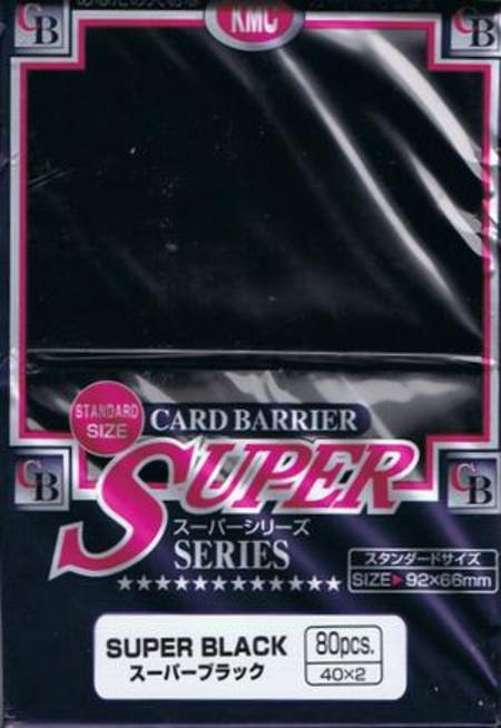 KMC Super Black (80CT) Large Magic Size Sleeves