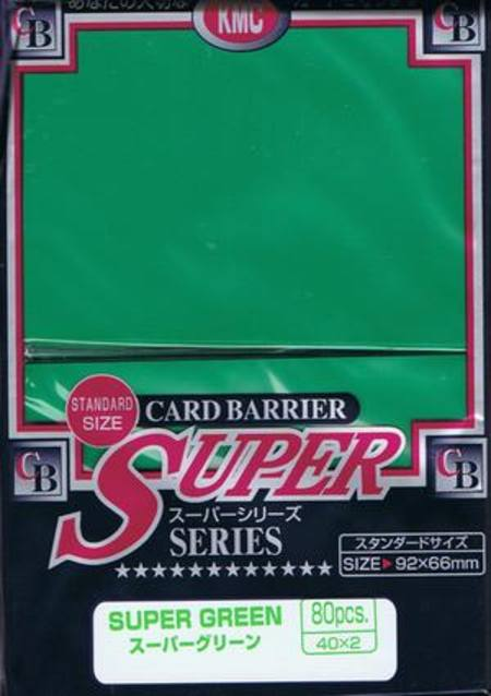 KMC Super Green (80CT) Large Magic Size Sleeves
