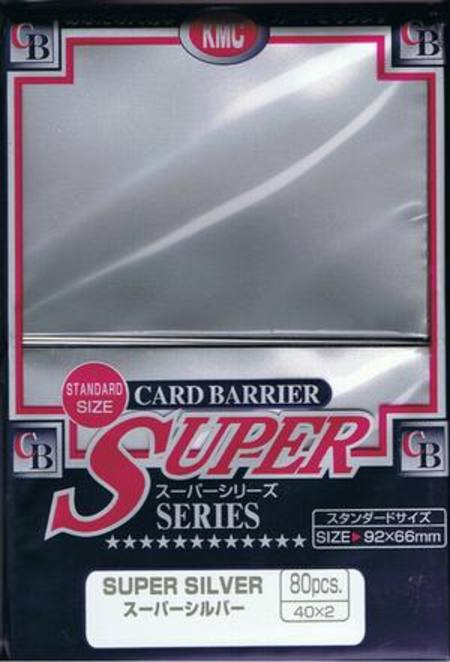 KMC Super Silver (80CT) Large Magic Size Sleeves