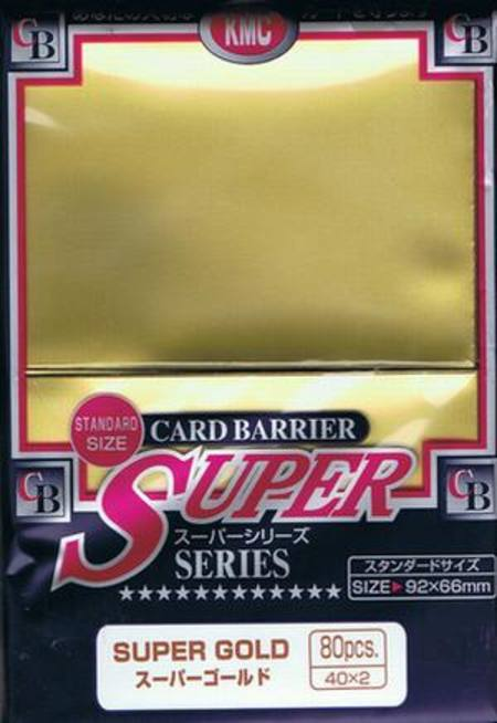 KMC Super Gold (80CT) Large Magic Size Sleeves