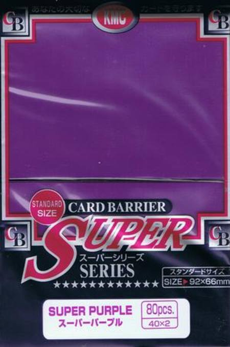 KMC Super Purple (80CT) Large Magic Size Sleeves