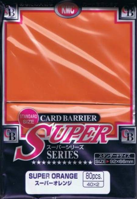 KMC Super Orange (80CT) Large Magic Size Sleeves