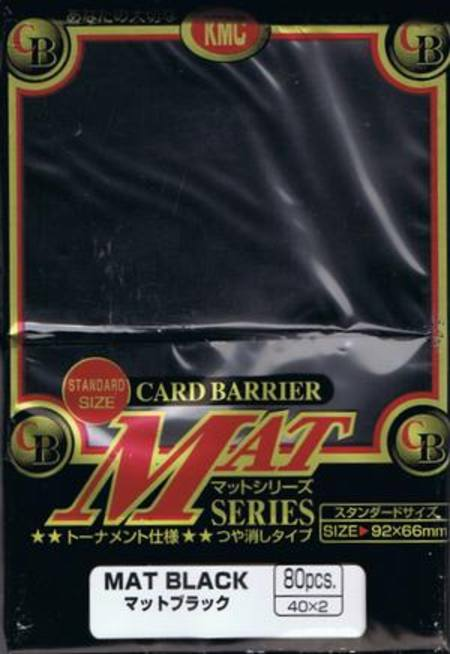 KMC Mat Black (80CT) Large Magic Size Sleeves