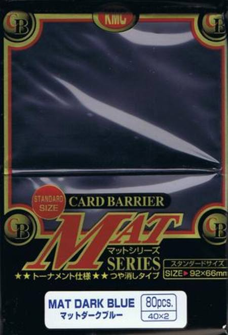 KMC Mat Dark Blue (80CT) Large Magic Size Sleeves