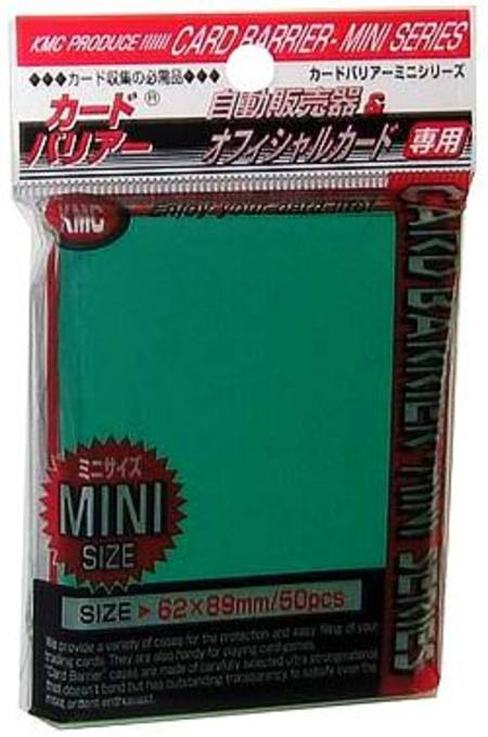 KMC Yu-Gi-Oh Size Deck Protectors (50CT) - Green