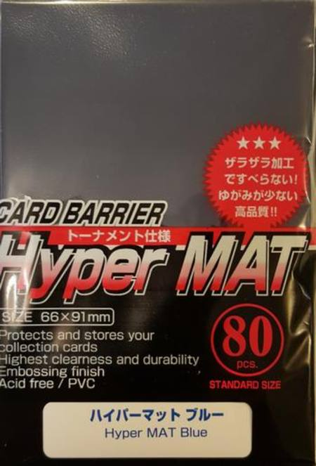 KMC Hyper Mat Blue (80CT) Large Magic Size Sleeves