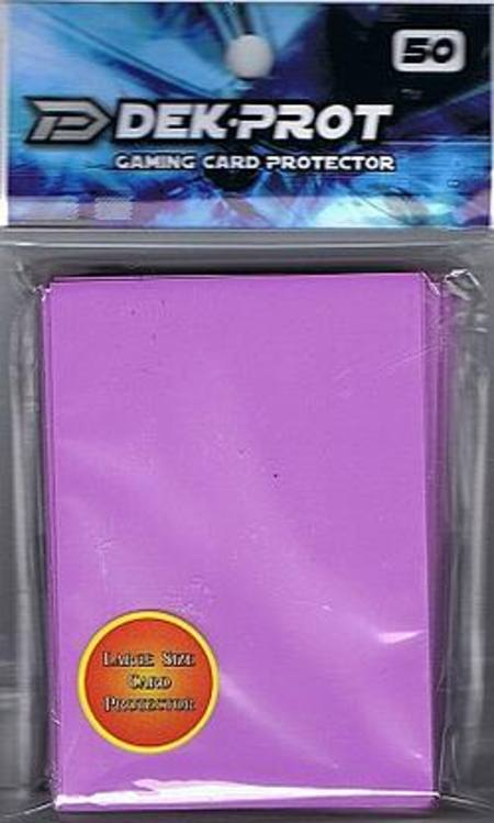 Dek-Prot Regular Size (50CT) Lilac Purple Sleeves