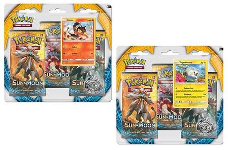 Pokemon Sun and Moon 3-Pack Blister Set