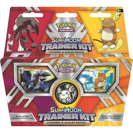 Pokemon Sun & Moon Lycanroc and Alolan Raichu Trainer Kit