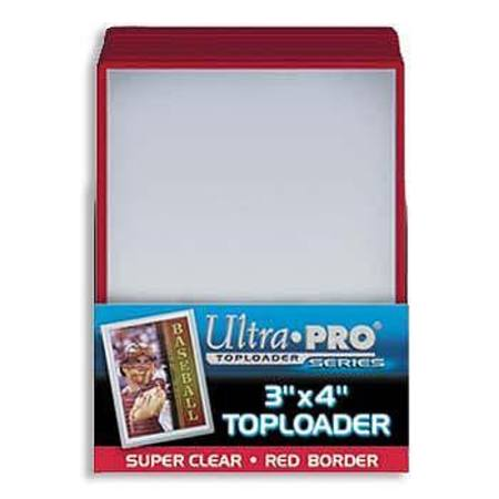 Ultra Pro Rigid Top Loader (25CT) Red Border