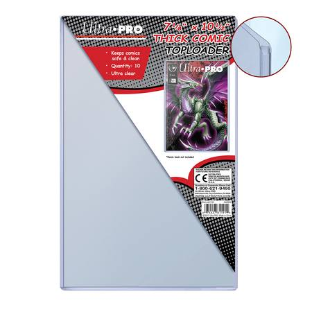 "Ultra Pro 7-1/8"" X 10-1/2"" Thick Comic Toploader (10CT)"