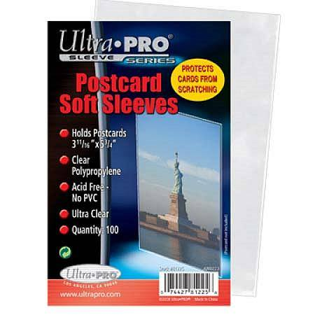 "Ultra Pro 3-11/16"" X 5-3/4"" Postcard Sleeves (100CT) Pack"