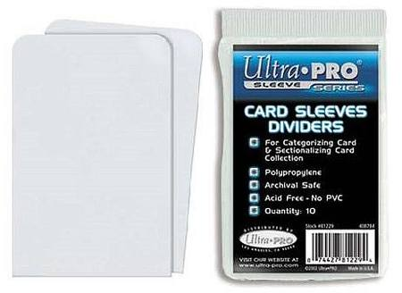 Ultra Pro White Card Sleeve Dividers