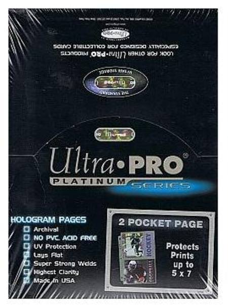 Ultra Pro 2 Pocket Pages 100 Count Box
