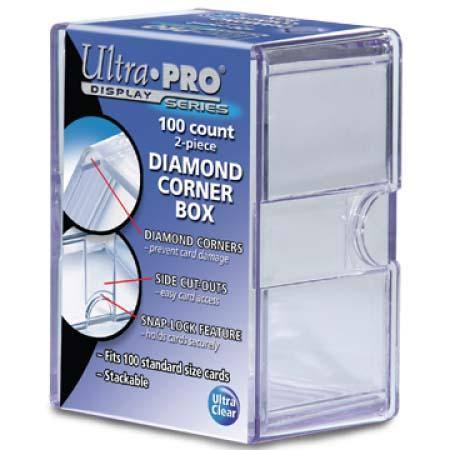 Ultra Pro Diamond Corners 100 Count Clear Card Storage Box