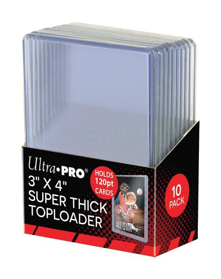 Ultra Pro 3x4 120pt  Super Thick Top Loaders (10CT)