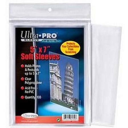 "Ultra Pro 5"" x 7"" Soft Sleeves (100CT) Pack"