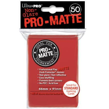 Ultra Pro Pro-Matte Red (50CT) Regular Size Sleeves