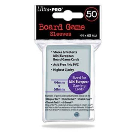 Ultra Pro 44mm X 68mm Mini European Board Game Sleeves (50CT)