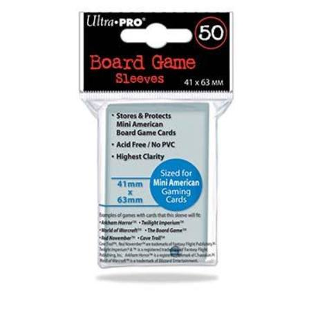 Ultra Pro 41mm X 63mm Mini American Board Game Sleeves (50CT)