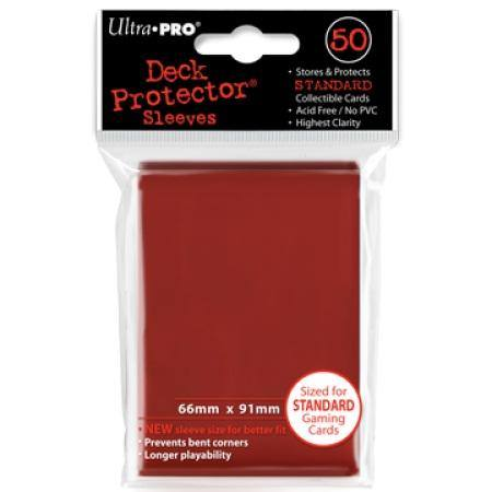 Ultra Pro Lava Red Deck Protectors (50CT) Regular Size Sleeves