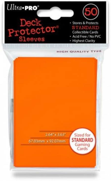 Ultra Pro Candy Orange Deck Protectors (50CT) Regular Size Sleeves