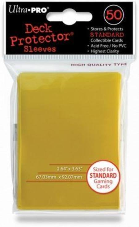 Ultra Pro Canary Yellow Deck Protectors (50CT) Regular Size Sleeves