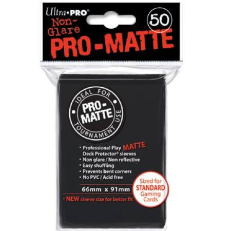Ultra Pro Pro-Matte Black (50CT) Regular Size Sleeves