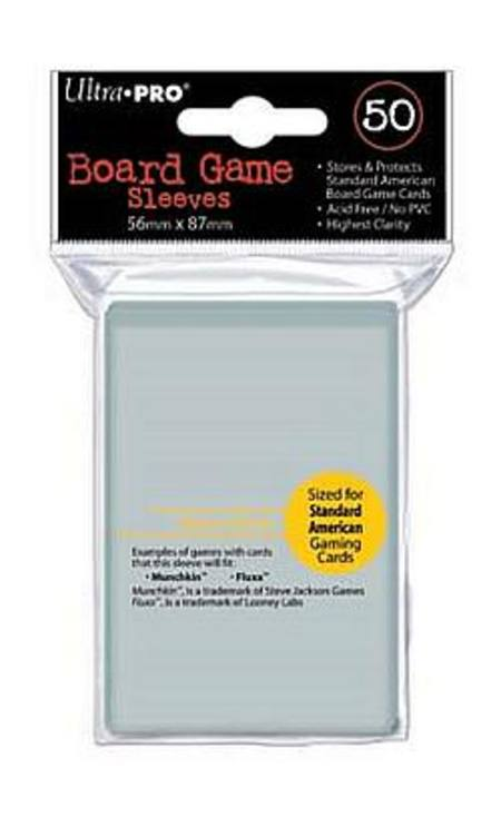 Ultra Pro 56mm X 87mm Standard American Board Game Sleeves (50CT)