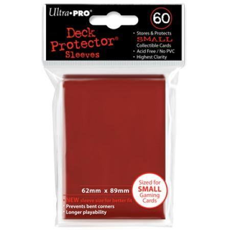 Ultra Pro Red Deck Protectors (60CT) YuGiOh Size Sleeves