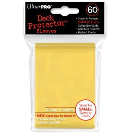 Ultra Pro Yellow Deck Protectors (60CT) YuGiOh Size Sleeves