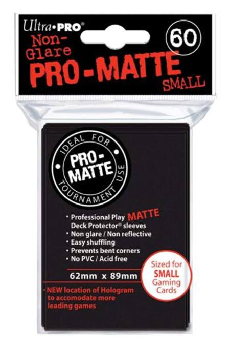 Ultra Pro Pro-Matte Black (60CT) YuGiOh Size Sleeves
