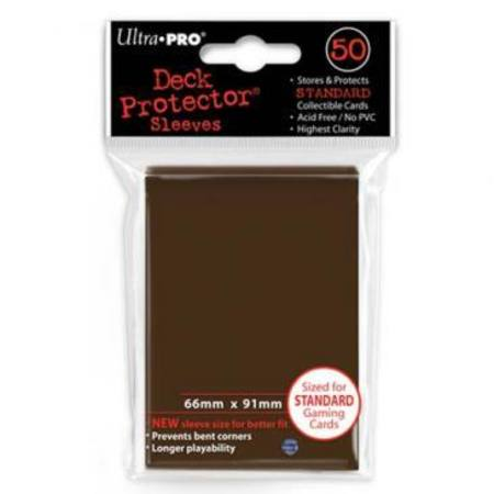 Ultra Pro Brown Deck Protectors 50 Large Magic Size Sleeves