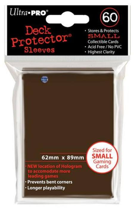 Ultra Pro Brown Deck Protectors (60CT) YuGiOh Size Sleeves
