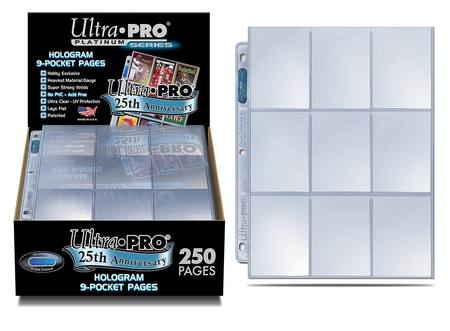 Ultra Pro 9 Pocket Platinum Page (250CT) Box