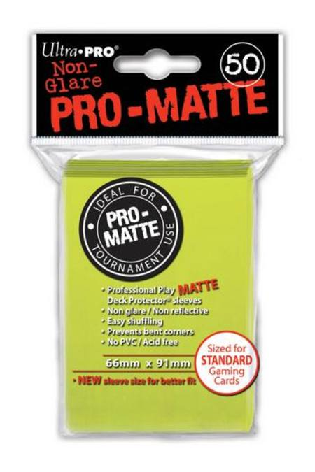Ultra Pro Pro-Matte Bright Yellow (50CT) Regular Size Sleeves
