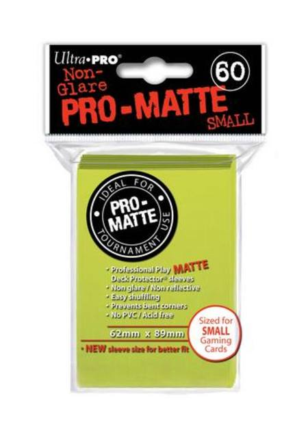 Ultra Pro Pro-Matte Bright Yellow (60CT) YuGiOh Size Sleeves