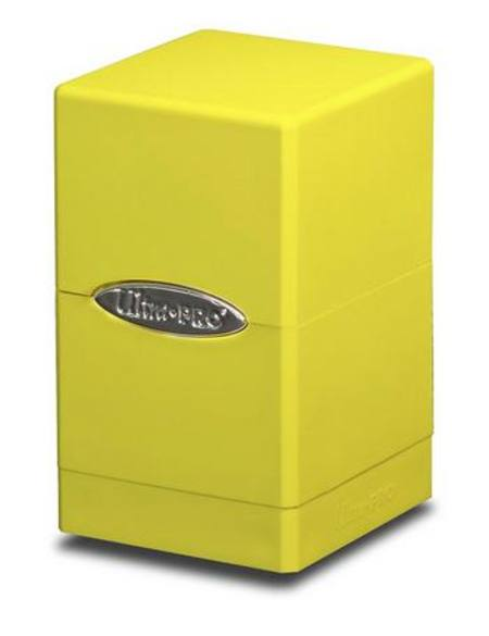 Ultra Pro Bright Yellow Satin Tower Deck Box