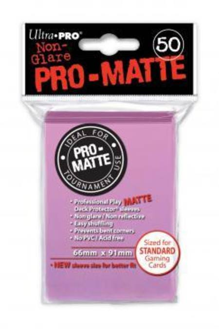Ultra Pro Pro-Matte Pink (50CT) Regular Size Sleeves