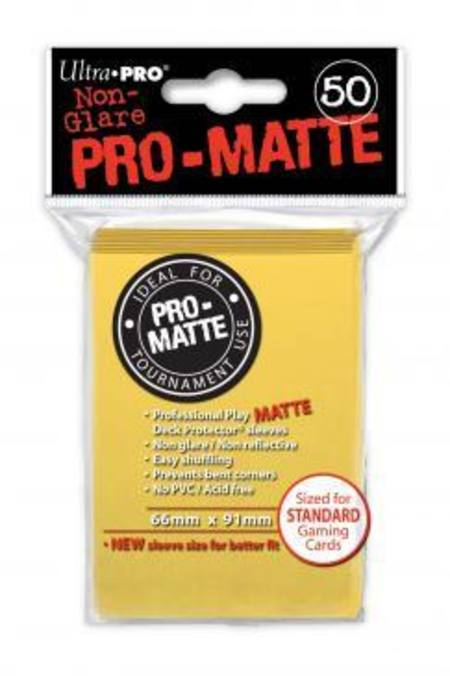 Ultra Pro Pro-Matte Yellow (50CT) Regular Size Sleeves