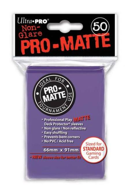 Ultra Pro Pro-Matte Purple (50CT) Regular Size Sleeves