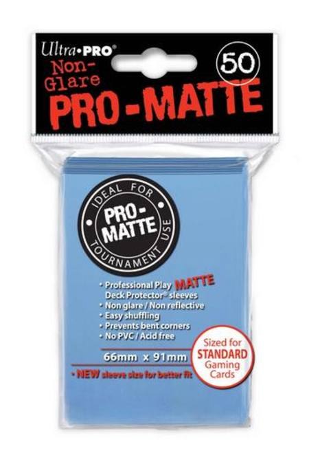 Ultra Pro Pro-Matte Light Blue (50CT) Regular Size Sleeves