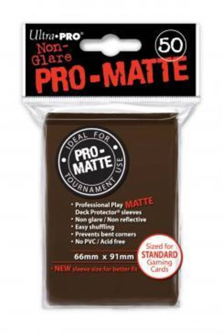Ultra Pro Pro-Matte Brown (50CT) Regular Size Sleeves