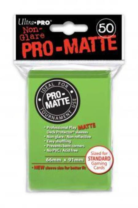 Ultra Pro Pro-Matte Lime Green (50CT) Regular Size Sleeves