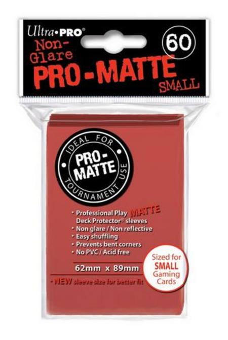 Ultra Pro Pro-Matte Red (60CT) YuGiOh Size Sleeves
