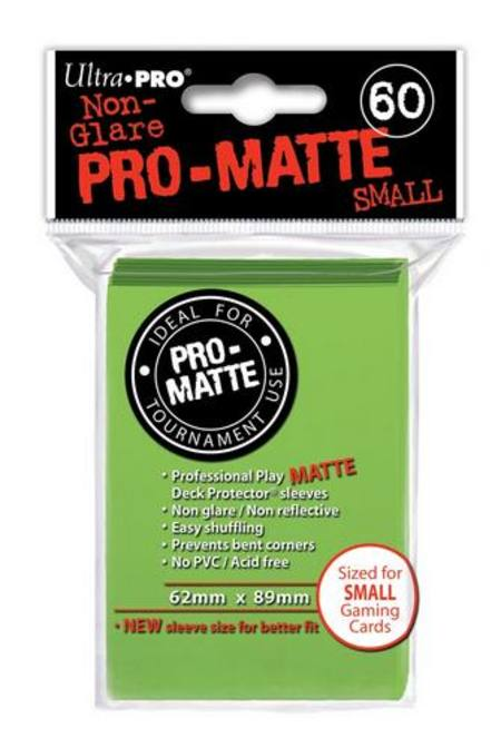 Ultra Pro Pro-Matte Lime Green (60CT) YuGiOh Size Sleeves