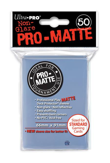 Ultra Pro Pro-Matte Clear (50CT) Regular Size Sleeves