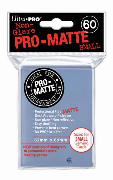 Ultra Pro Pro-Matte Clear (60CT) YuGiOh Size Sleeves
