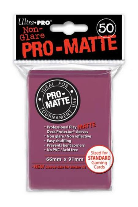 Ultra Pro Pro-Matte Blackberry (50CT) Regular Size Sleeves